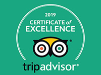 Prima Vista TripAdvisor Certificate of Excellence for the year 2019.